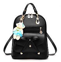 Женская сумка рюкзак трансформер. Стильные женские рюкзаки черный, синий, бежевый, красный, фото 1