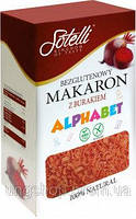 Безглютеновые Макароны Sotelli Alphabet свекла 400 г