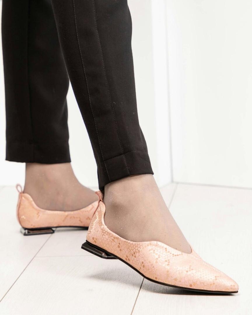 fbc8bc502 Балетки женские с острым носком пудра, цена 1 150 грн., купить в ...