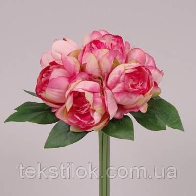 Букет Пионов темно-розовый  Цветы искусственные