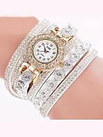 Женские белые часы-браслет