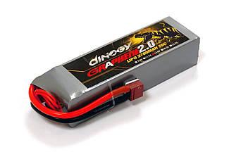 Аккумулятор Dinogy G2.0 Li-Pol 3700mAh 14.8V 4S 70C T-Plug 150x45x30мм
