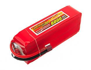 Аккумулятор Dinogy Li-Pol 6000mAh 22.2V 6S 30C 66x44x163мм T-Plug