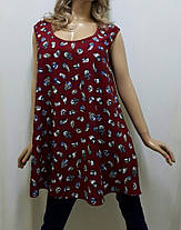 Туника женская  без рукава, расклешенная штапельная 50,52, 54, 56, 58, 60 р-ра, Харьков, фото 2