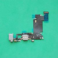 Шлейф для Apple iPhone 6S Plus 5.5  коннектора зарядки,коннектора наушников,с микрофоном,с компонентами Gray