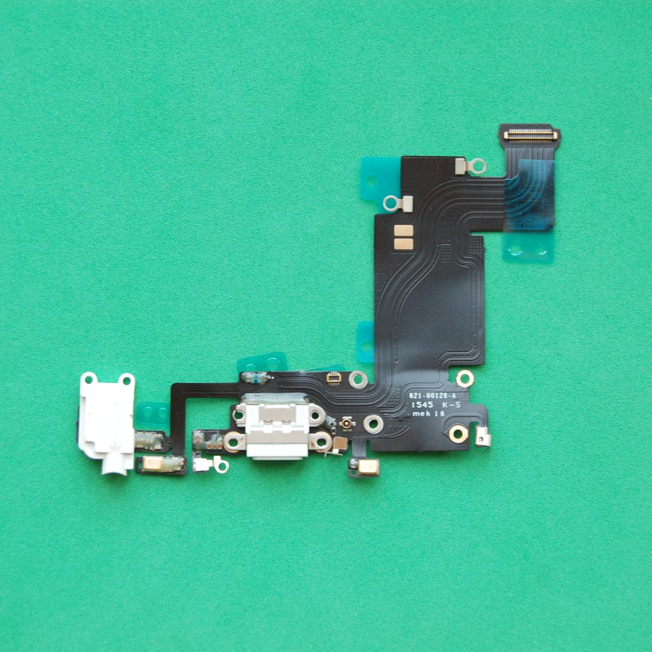 Шлейф для Apple iPhone 6S Plus 5.5  коннектора зарядки,коннектора наушников,с микрофоном,с компонентами white