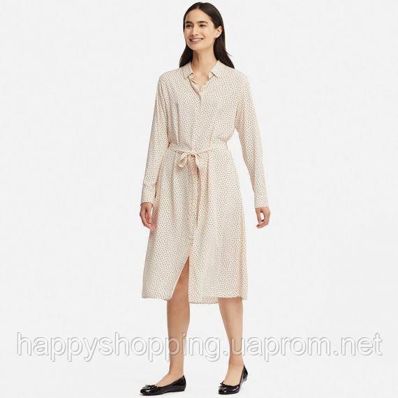 Женское стильное летнее платье с карманами Uniqlo