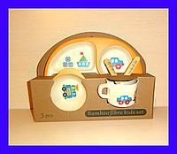 Детская бамбуковая посуда, большая, фото 1