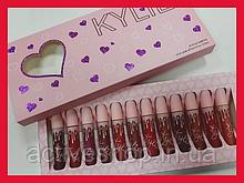 Набор матовых жидких помад Kylie Valentines 12шт