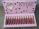 Набір матових рідких помад Kylie Valentines 12шт, фото 2