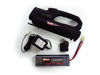 B7026S1 Estarter Combo Set For 1:10 Nitro Gas Car Estarter w/Drillplate, 7.2V 2000mAH Battery, and C