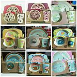 Набор детской бамбуковой посуды, маленькая, фото 5