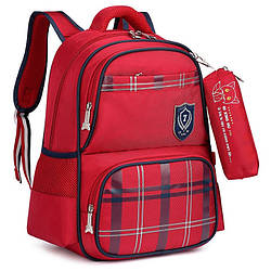 """Школьный рюкзак """"Лисенок"""" с сумочкой для карандашей на карабине, влагозащищенный, 18л"""