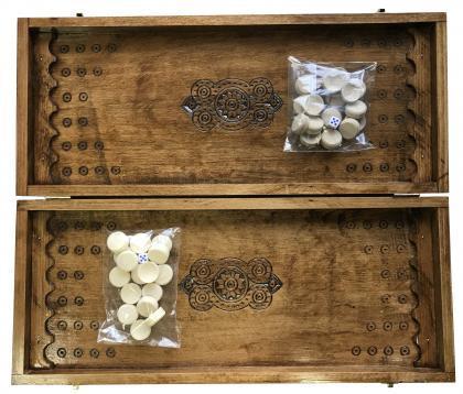 Нарди дерев'яні ручної роботи Newt Backgammon 1