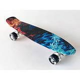 Пенні скейт борд пенниборд 231B Penny Board Галактика, фото 5