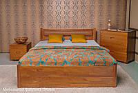 Деревянная кровать Марго мягкая спинка с ящиками