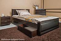 Деревянная кровать Марго филенка с ящиками