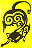 Женская футболка  трикотажная желтая ручная роспись Кошка  размеры 40-44, фото 3