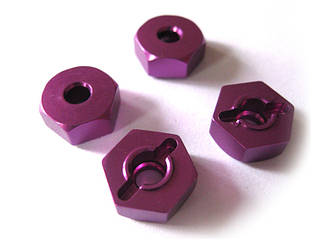 (02134) Purple Alum Wheel Hex Mount 4P