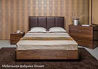 Деревянная кровать Челси с мягким изголовьем