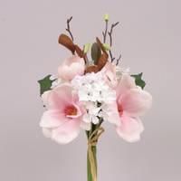Букет Микс бело-розовый магнолии+гортензии Цветы искусственные
