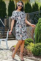 ✔️ Летнее платье-туника летучая мышь 44-52 размера черное, фото 1