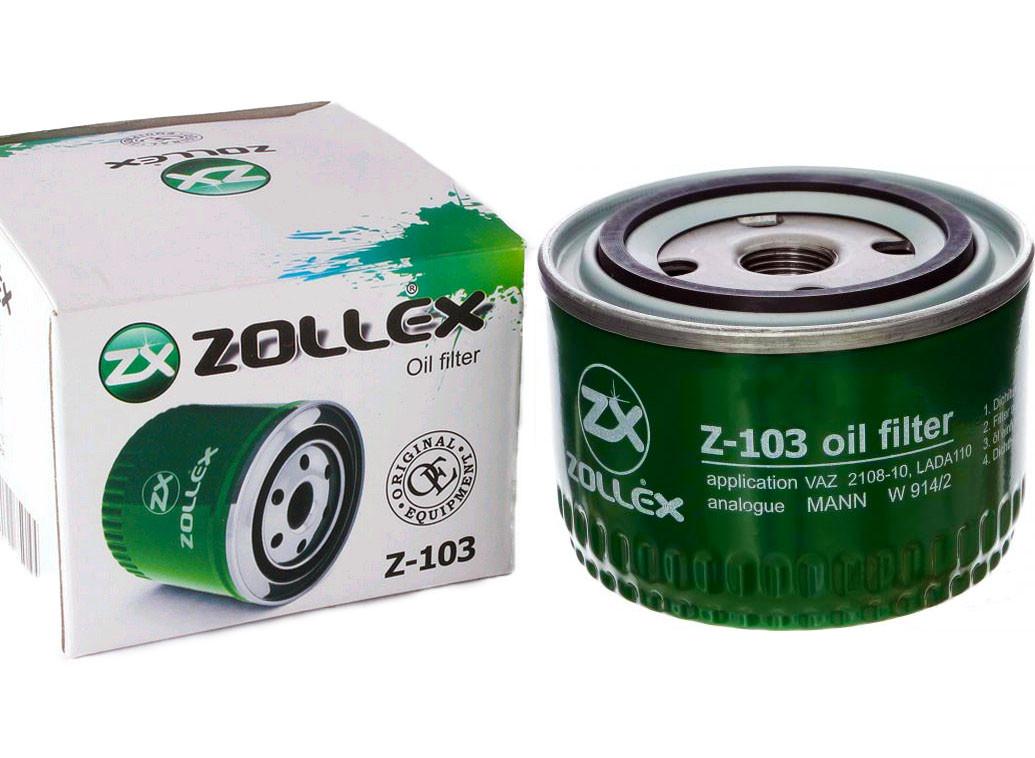 Фильтр масляный Сенс / ВАЗ 2108-09 Z-103 Zollex (WL7168), 1257007