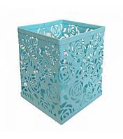 Стакан-подставка для кистей и пилок (квадрат), цвет в ассортименте