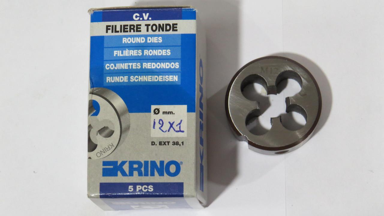 Плашка М12х1 HSS для метрической резьбы KRINO-12005 Италия