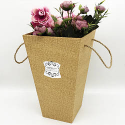 Коробка под цветы трапеция