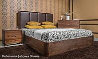 Деревянная кровать Челси с мягким изголовьем и с подъемной рамой