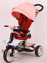 Детский трехколесный складной велосипед ROZA T-600 (, фото 3