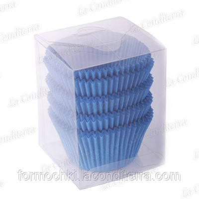 Голубые формы для кексов 140-ПУ (Ø55, h - 42,5 мм), 100 шт.