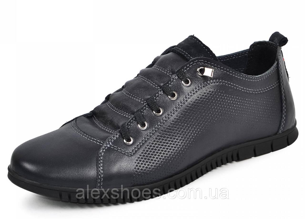 Туфли мужские спортивные из натуральной кожи от производителя модель МАК1010С