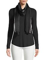 Женский оригинальный черный шарф Calvin Klein