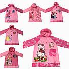 Дождевик детский с надувным капюшоном Hello Kitty S M L XL , фото 3