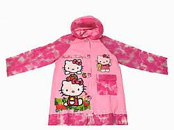 Дождевик детский с надувным капюшоном Hello Kitty S M L XL