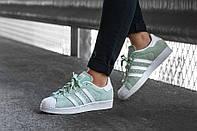 """Кеды Adidas Superstar W """"Ice / Mint """""""