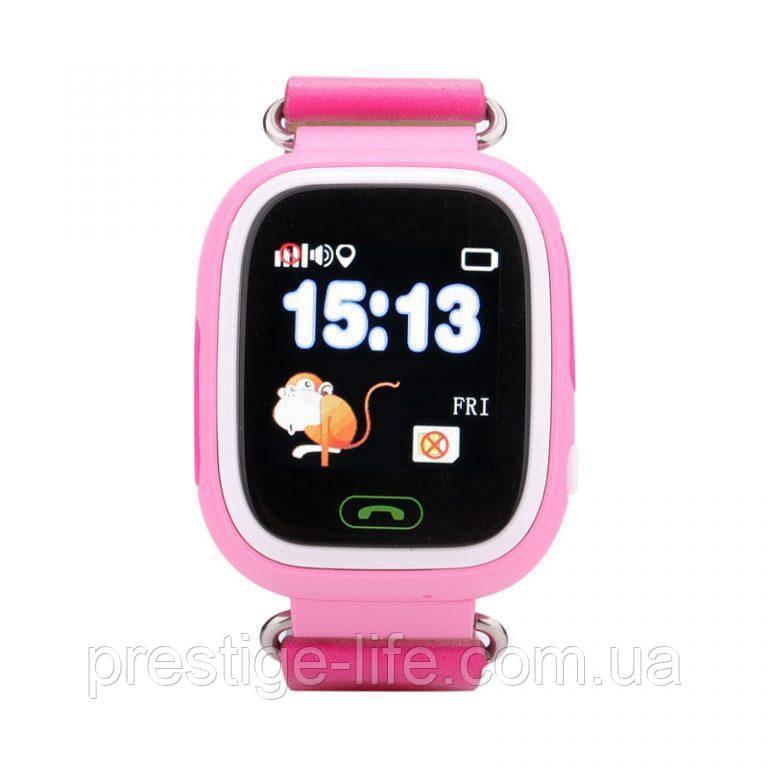 Смарт-часы сGPS, Wi-Fi, Smart Baby Watch Q90 Розовые