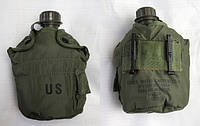 Пластиковая фляга CША (US). Cap, Water Canteen ( М-1 Cap for gas mask use w/ 1 Quart & 2 Quart canteens).