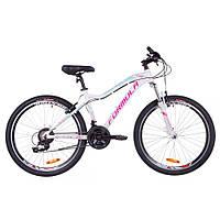 """Велосипед 26"""" Formula MYSTIQUE 2.0 AM 14G  Vbr  рама-13,5"""" Al бело-голубой с фиолетовым   2019"""