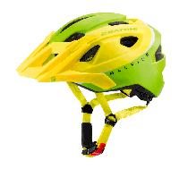 Велошлем  Allride лайм/белый размер UNI (53-59 см)