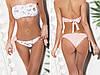 """Раздельный женский купальник-бандо """"SHINE"""" с пайетками (7 цветов), фото 2"""