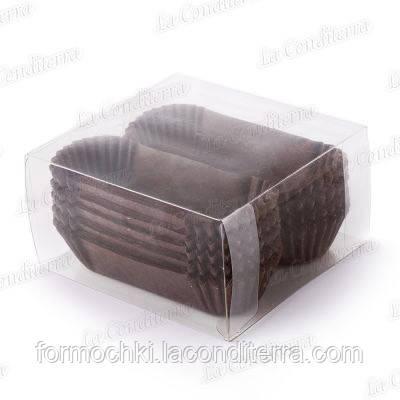 Формы для кексов OV10-ПУ (длина дна - 10 см), коричневые, 150 шт.
