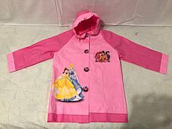 Дождевик детский с надувным капюшоном Принцессы Дисней S M L XL