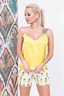 """Домашний женский комплект-пижама """"DREAMS"""" с шелковым топом (4 цвета)"""