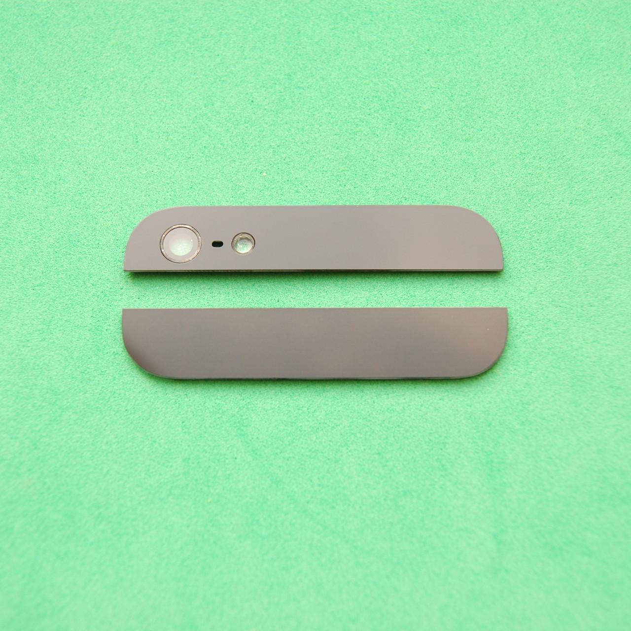 Стекло корпуса комплект(верхнее+нижнее) Apple Iphone 5 Black