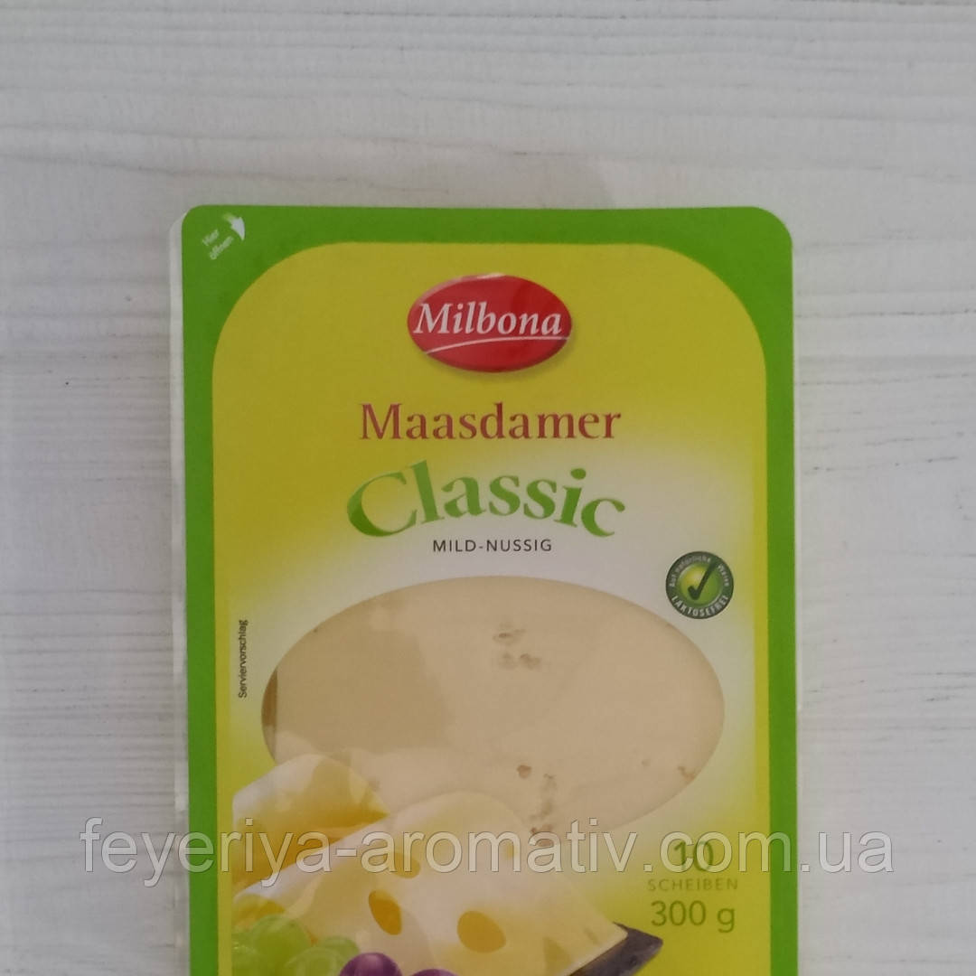 Твердый сыр нарезка Milbona Maasdamer Classic 300г (Германия)