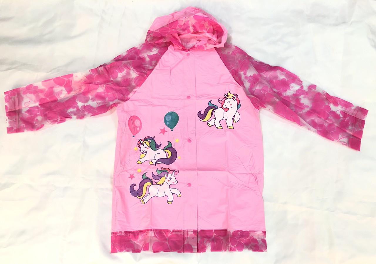 Дождевик детский с надувным капюшоном Unicorn S M L XL