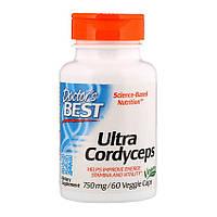 Кордицепс Doctor's BEST Ultra Cordyceps 750 mg 60 veg caps